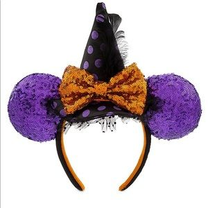 Disney Parks Minnie Witch Halloween Ears